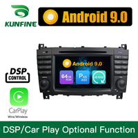 Android 9.0 Octa Core 4GB RAM 64GB ROM Car DVD GPS Navigation Multimedia Player Car Stereo for Benz C Class W203 CLC
