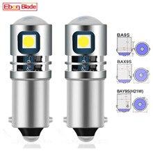 2 pces ba9s t4w lâmpada led 12v 24v baxter 9s h6w h5w bay9s h21w luz de nevoeiro traseira do carro auto reverso estacionamento luzes interior cúpula lâmpadas branco