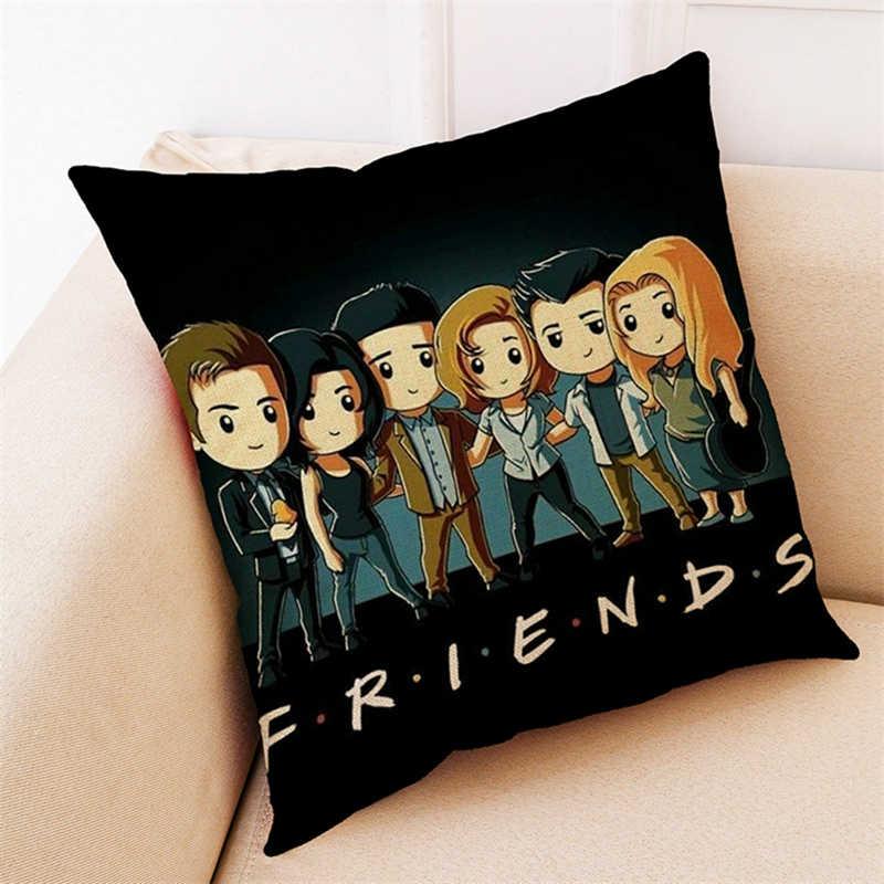 45*45cm American TV Series FRIENDS Cartoon Throw Pillows Cover Pillowcase Sofa Cushion Accessories Friends Christmas Gift