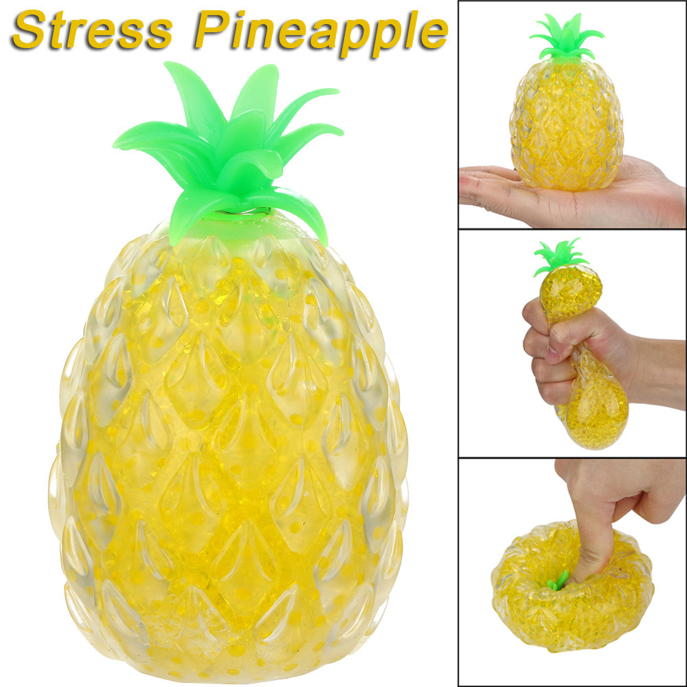 Pineapple Ball Anti-Stress Vent Toy Squish Anxiety Stress Relief Spongy Bead Funny Novelty Squeeze Toys For Children Gift