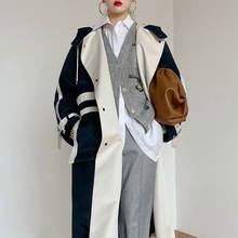 Пальто новинка 2020 подходящая к цвету свободная тонкая модная