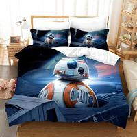 Set Star Wars BB 8 Robot Print 3D Bedding Sets Home Bedding Duvet Cover Cotton Pillowcase Home Textile Bedclothes Dropshipping