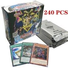 Yugioh lenda deck 216/240 pçs conjunto com caixa yu gi oh anime jogo coleção cartões crianças meninos brinquedos para crianças figura cartas