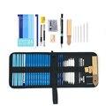 Профессиональный 28/38 шт набор карандашей для набросков, набор для рисования древесного угля, сумки для карандашей для художников, школьные ...