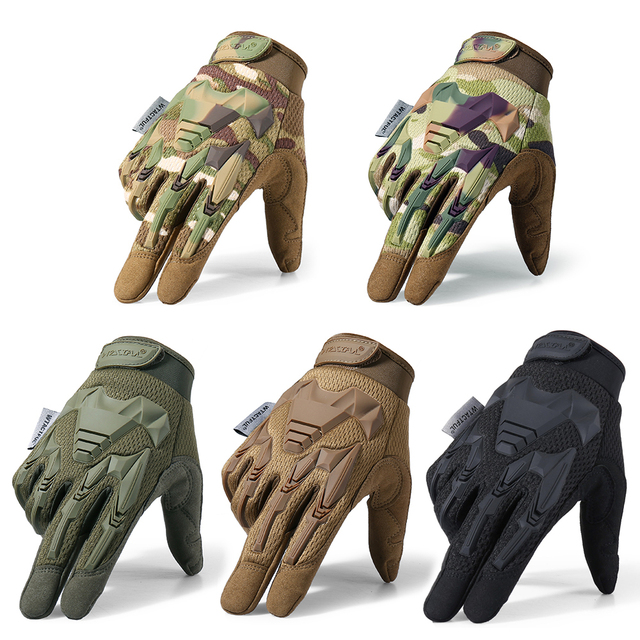 Tactical Military Gloves Army Paintball Shooting Airsoft Combat Bicycle Rubber Protective Anti-Skid Full Finger Glove Men Women 2