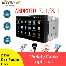 JIUYIN Android 8.1 2 Din Car Radio Multimedia Video Player Universal Auto GPS MAP For Volkswagen Nissan Hyundai Kia toyata CR-V