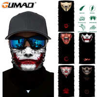 3D Joker sin costuras de cuello mágico gater cara escudo ciclismo pesca bicicleta esquí Camping Bandana Halloween diadema bufanda hombres mujeres máscara