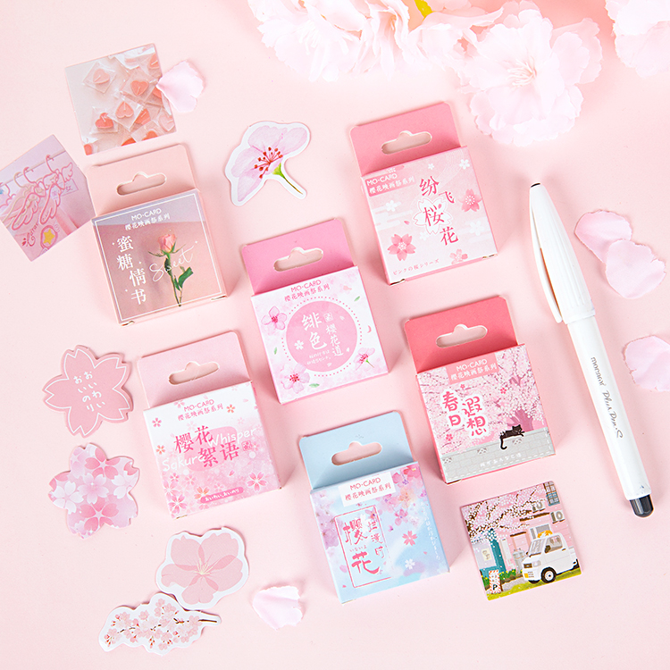 Cherry Blossom Painting Festival Series Journal Decorative Stationery Stickers Set Scrapbooking DIY Diary Album Stick Lable