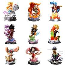 26CM Anime Figure One Piece Luffy Sanji Robin Usopp Nami Sir Crocodile Boa Hancock PVC Action Figure Collect Model Toys