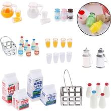 1/12 кукольный миниатюрный молока для одежды корзины кувшин с крышкой бутылки куклы дом аксессуары для кухни Мебель Декор детские игрушки DIY
