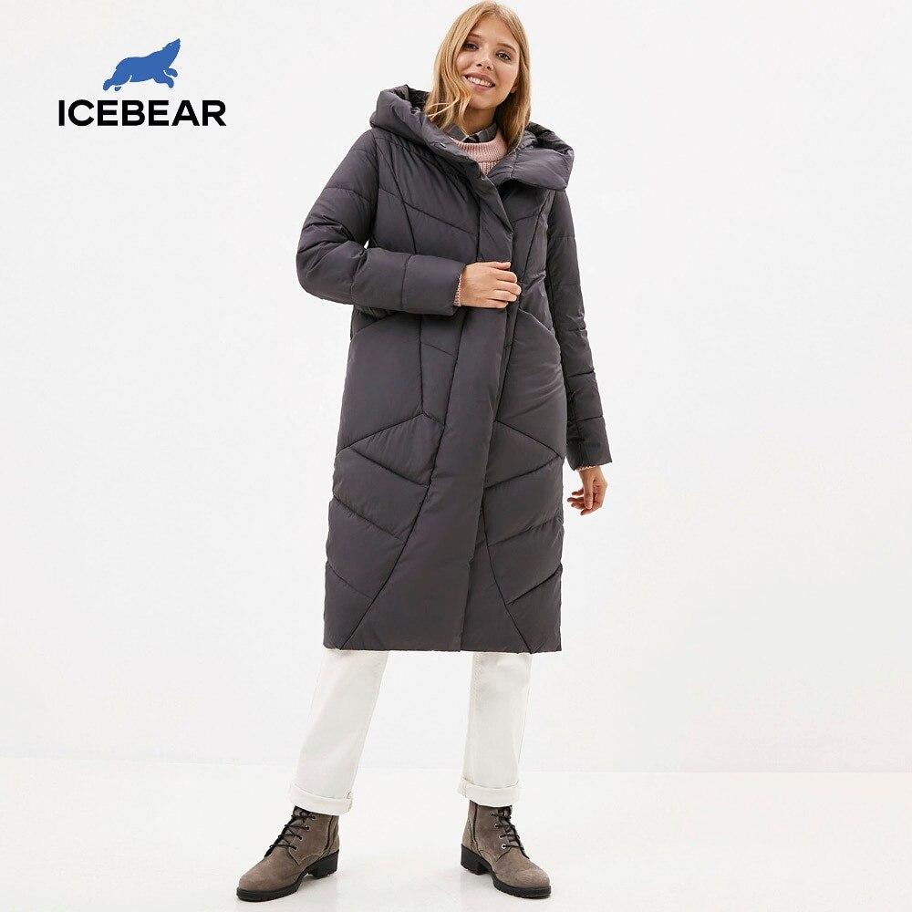 ICEbear 2020 delle Nuove Donne Con Cappuccio Giacca Casual Inverno Ispessisce I Vestiti di Cotone di Modo delle Donne di Marca di Abbigliamento GWD20127D 1