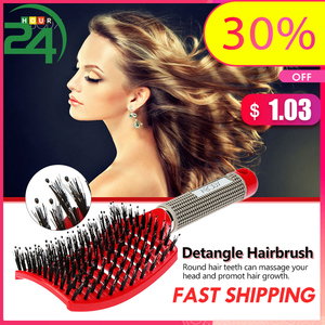 Image 1 - Hot Comb Abody Hair Brush 3 Row Teeth Teasing Comb Detangling Brush Rat Tail Comb Adding Volume Back Coming Hairdressing Combs