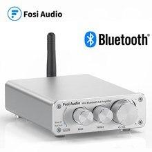 Fosi אודיו BT10A Bluetooth 5.0 סטריאו מגבר מקלט Class D Mini HiFi משולב מגבר לבית רמקולים 50W * 2 טרבל ובס
