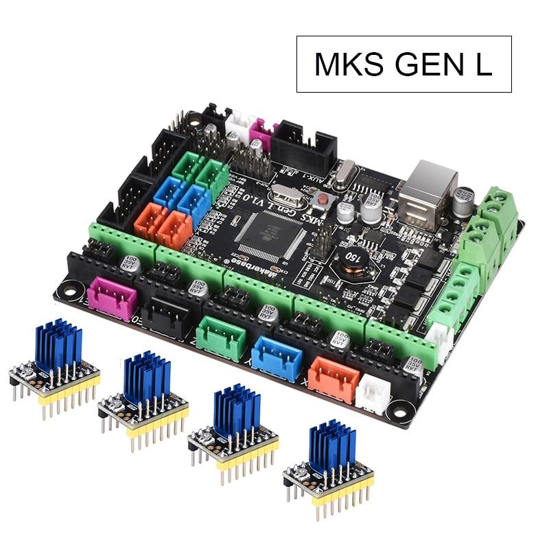 Mks gen l v1.0 controle placa pcb rampas reprap 1.4 skr v1.3 apoio a4988/drv8825/tmc2208/tmc2130 driver para peças de impressora 3d