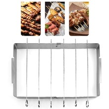 Durable Stainless Steel Folding Barbecue Grills Kitchen Accessories Picnic Tools Beef Chicken Roaster Tots Cooking