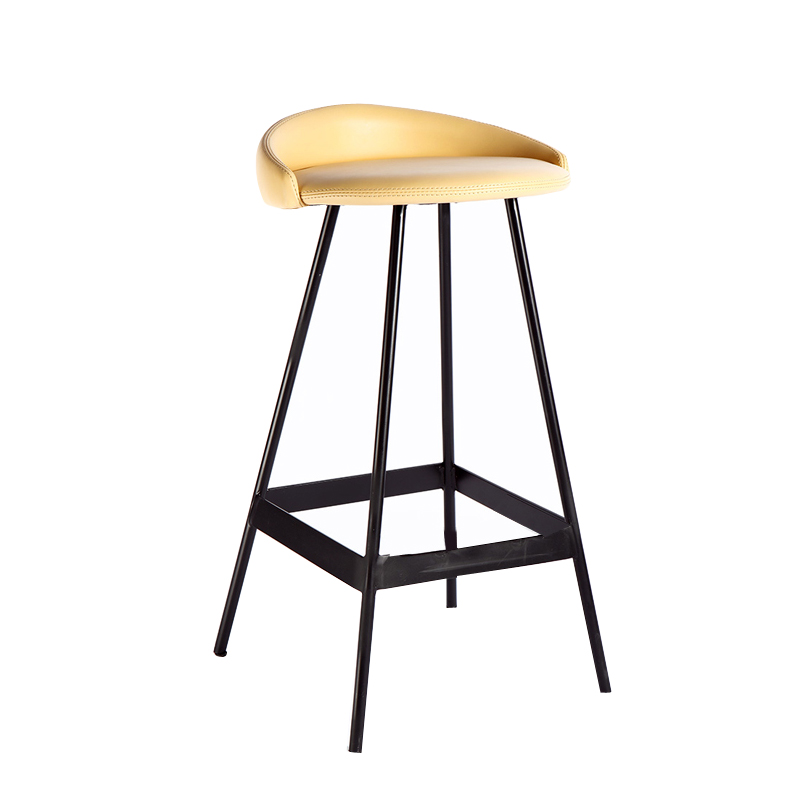 Island Dining Chair Domestic High Stool Bar  Soft Leather    Modern Simple Leisure
