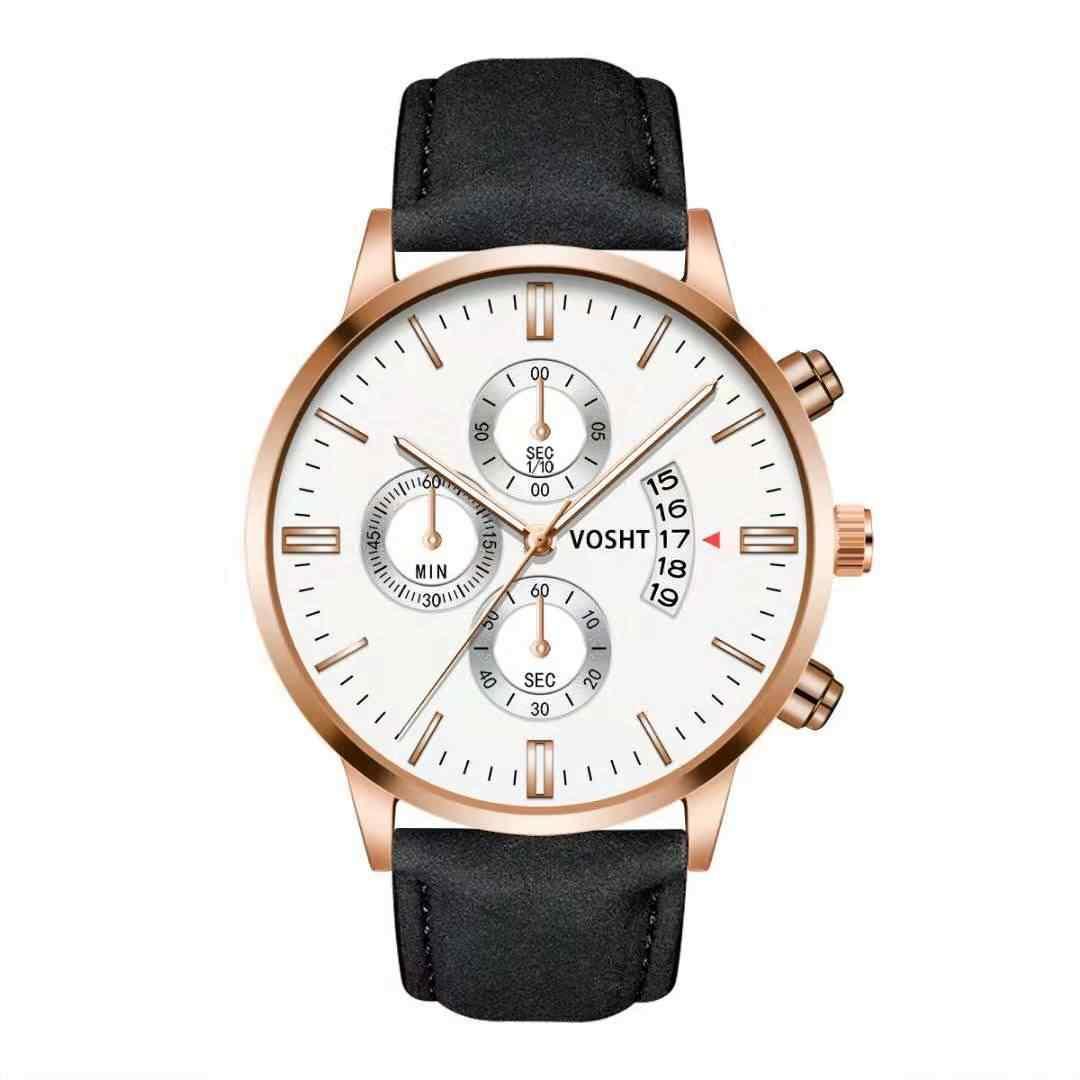Moda militar relógio esportivo de luxo analógico esporte couro quartzo masculino relógios ultra finos para mulher
