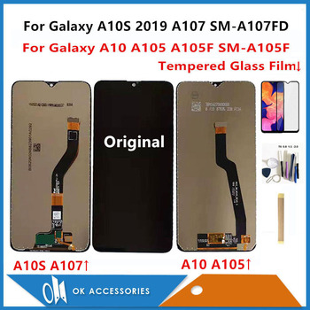 For Samsung Galaxy A10 A105 A105F SM-A105F / A10S 2019 A107 A107FD LCD Display + Touch Screen Sensor Digitizer With Free Kits 1