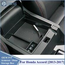 Pour Honda Accord accessoires voiture porte avant boîte de rangement organisateur couvercle intérieur garniture 2013 2014 2015 2016 2017 2017 style