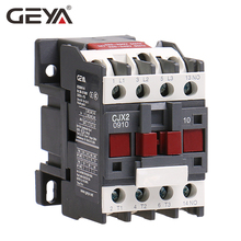 GEYA CJX2-0910 1210 1810  Din Rail Magnetic Contactor 220V or 380VAC Contactor 3Pole 9A 12A 18A 1NO LC1D-09 Contactor цена