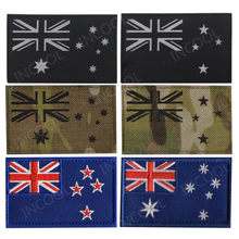 Australia New Zealand Flag IR Reflective Embroidered Patches Tactical Military Morale Patches Australian Flags Embroidery Badges(China)