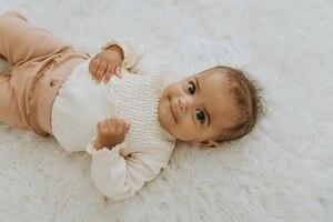 2020 г., милая одежда для малышей от 0 до 18 месяцев, плиссированный комбинезон с длинными рукавами для новорожденных мальчиков и девочек, однотонный трикотажный комбинезон, Весенняя цельнокроеная одежда