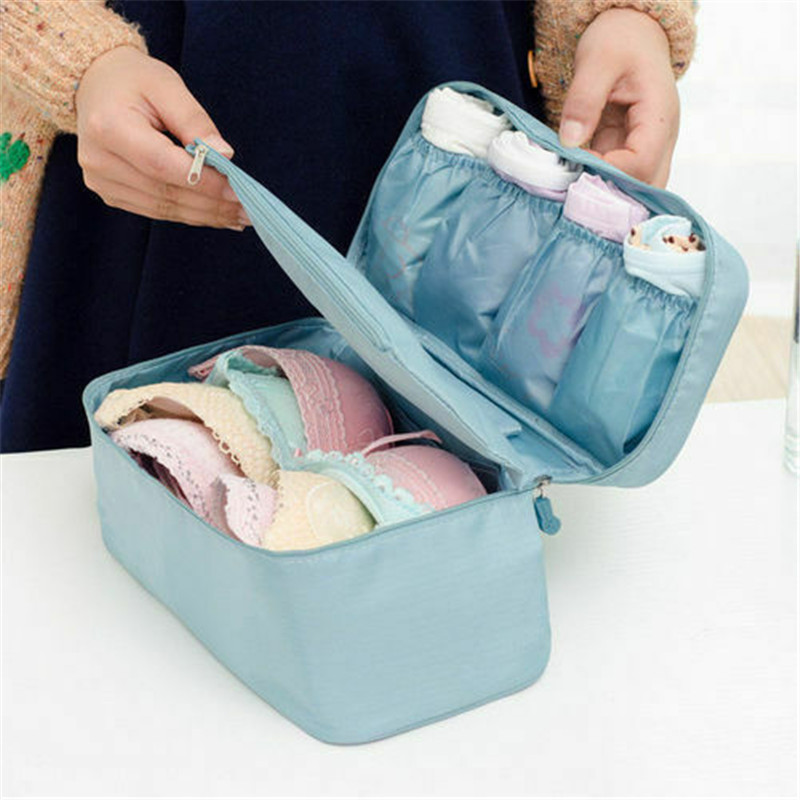 Bra Underwear Drawer Organizers Travel Storage Dividers Box Bag Socks Briefs Cloth Case Clothing Wardrobe Accessories Supplies