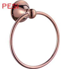 цена Towel Ring Rail Rack Bar Shelf Bathroom Accessories Hardware Set Robe Coat Hook Paper Holder Toothbrush Holder ,Rose Gold. онлайн в 2017 году