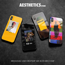 Frank Ocean Blonde rapper Coque Tempered Glass Phone Case Cover Shell For apple iPhone6 6s 7 8 Plus X XR XS 11 Pro MAX(China)