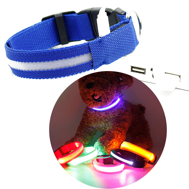 Charging LED Luminous Dog Collar Night Light Pet Collar Pet Supplies Dongguan Shine