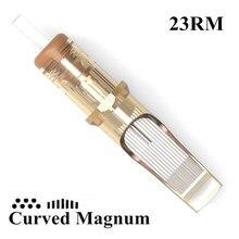 20個使い捨て滅菌野望タトゥーカートリッジ針23カーブマグナム (23RM) メイク眉毛供給