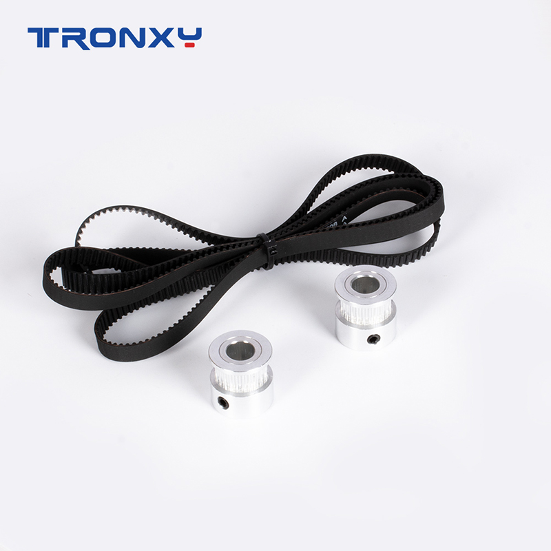 Tronxy 3D Printer Accessories Z-axis timing belt adjuster D8mm 24/20 Tooth Pulley +belt for X5SA/X5SA PRO/-2E 400/500 3D Printer