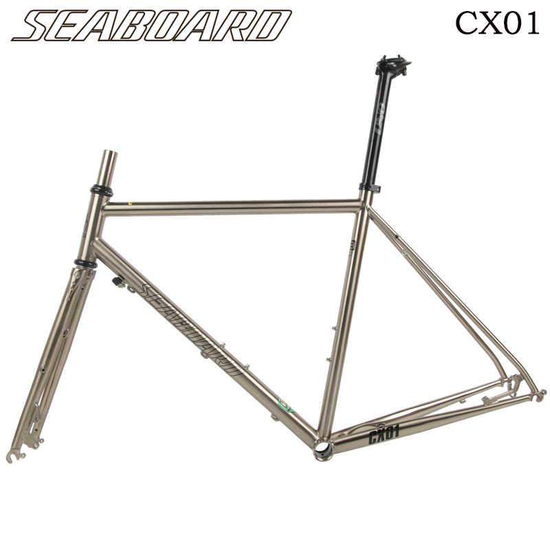 seaborad chromium road bike frame fork