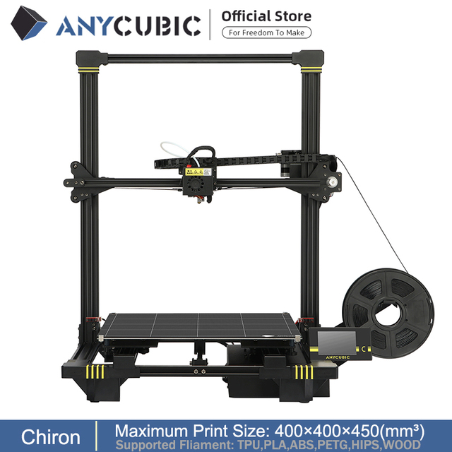 ANYCUBIC Chiron 3d Printer Large Build Volume With Automatic Level Ultrabase Extruder Heated Bed FDM 3D Printer Kit 3d printer