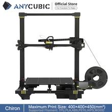 ANYCUBIC Chiron Impresora 3d Volumen de construcción grande con nivel automático Extrusora Ultrabase Cama calefactada Kit de impresora 3D FDM Impresora 3d