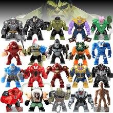 Одна распродажа, Большие Супер герои, анти Веном, танос, калл, обсидиан, Халк, Бастер, Человек-паук, Бэтмен, Бэйн, фигурка, модель, строительные блоки, игрушки