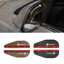 Автомобильное зеркало заднего вида защита от дождя и дождя Защита от дождя защитный чехол для Seat Leon FR + Ibiza Altea формула гоночный автомобиль Ст...