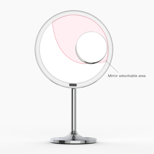 Image 5 - LED Touch Screen Light Makeup Mirror with 5X Magnifying Smart Sensor Desktop Vanity Mirror 8.5 inch HD Mirrors For Beauty Makeup