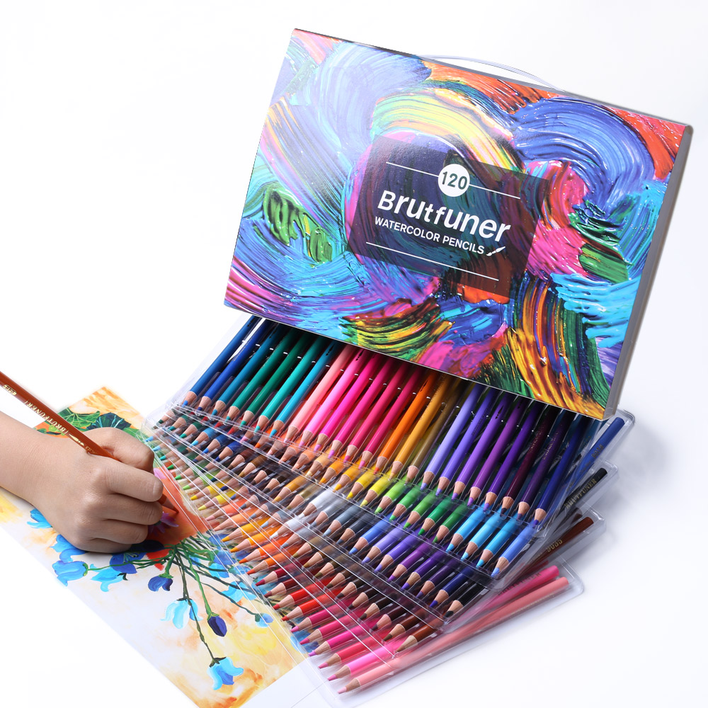 Professional Oil Color Pencils Set Lapis De Cor Artist Painting Sketching Wood Color Pencil Lapis De Cor For School Art Supplies