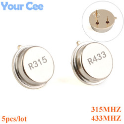 5 шт. 315 433 мгц резонатор, кварцевый осциллятор R315A R433A, с сквозными отверстиями, комплект для осциллятора, Круглый 3 контакта