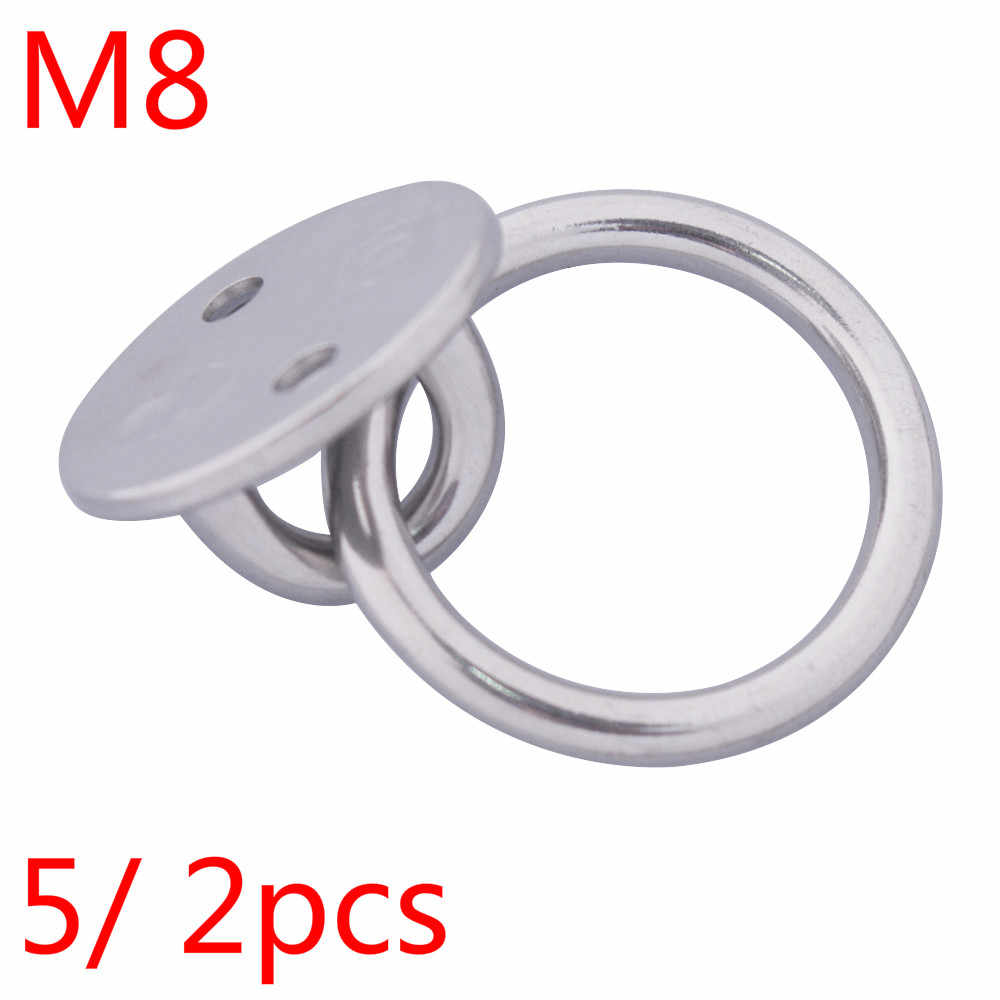 M5 M6 M8 Stainless Steel Square Eye Plates Ring for Marine Boat Ship Shade Sails