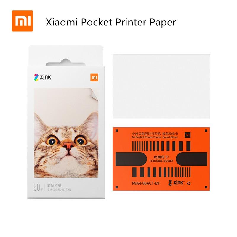 Hojas de impresión fotográfica autoadhesivas originales Xiaomi ZINK Pocket Papel de impresora para Xiaomi 3 pulgadas Mini Pocket impresión fotográfica er Only Pape|Control remoto inteligente|   - AliExpress