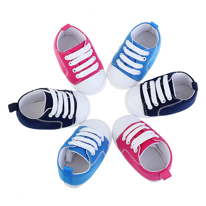 OEAK 2020 Newborn Toddler Shoes Baby Girls Boys Solid Cute Soft Sole Casual Fashion Infant Anti-slip First Walkers Shoes
