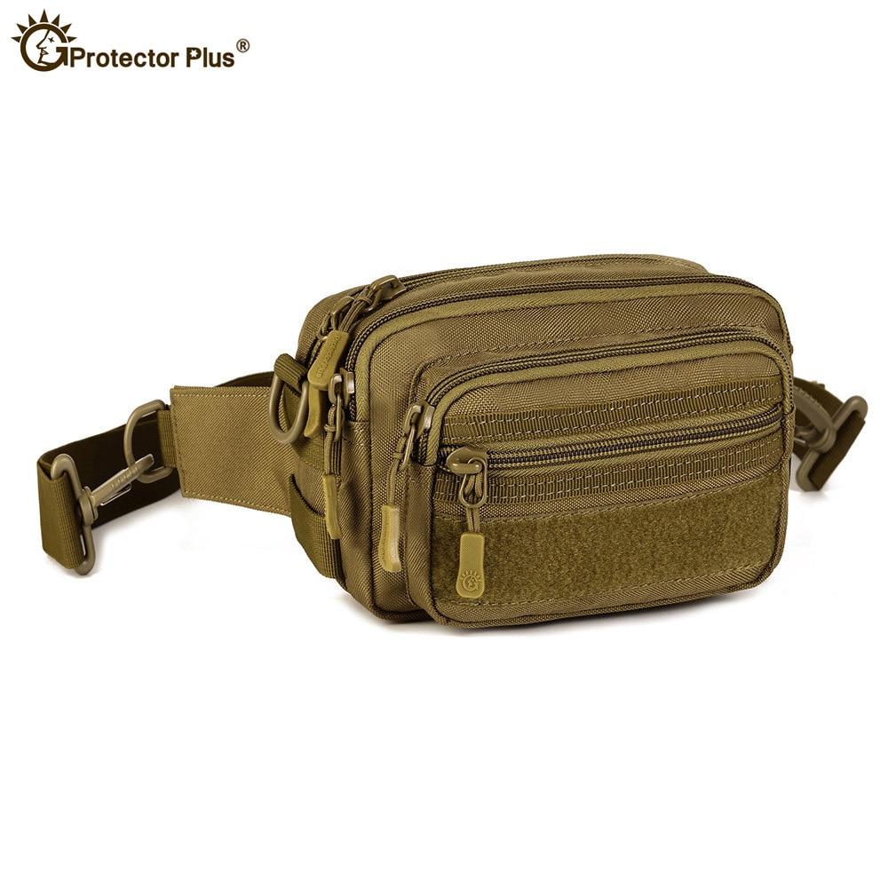 Men/'s 1000D Nylon Tactical Molle Fanny Waist Pack Shoulder Messenger Kettle Bags