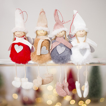 1pc Christmas Pendant Cute Angel Plush Doll Girl Tree Hanging Decor for New Year Xmas Party Ornament Kids Gift