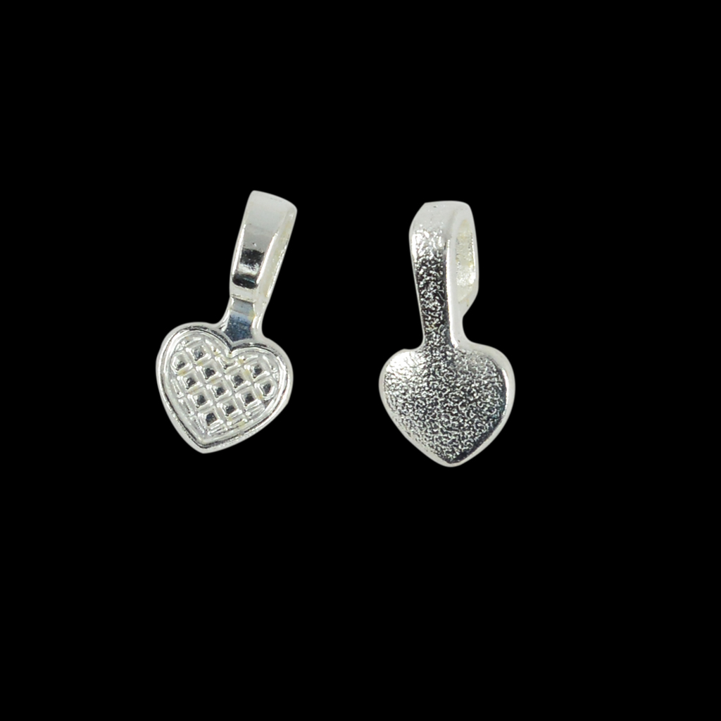 100 peças em forma de coração do vintage cola em bails 16x8mm jóias fazendo artesanato diy contas