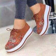 2021 yüksek kaliteli işlemeli çiçekler Platform ayakkabılar kadın Flats Zapatillas Mujer rahat bayan ayakkabıları Feminino artı boyutu 43