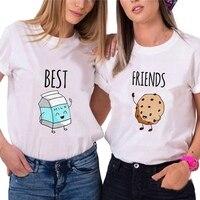 Camiseta de las mujeres BFF лучшие футболки с