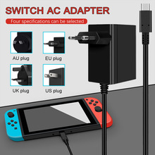 EU & US & UK & AU Plug AC Adapter Charger For Nintend Switch Game Console Wall Travel Charge 5V 2.6A Charging USB Type C Power