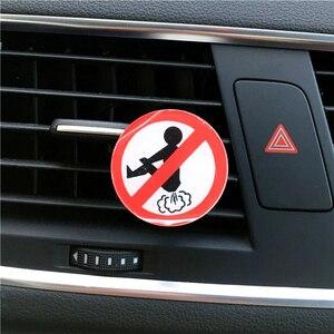 Image 4 - 새로운 2 pcs 가격 아크릴 자동차 스타일링 장식 향수 재미 있은 방귀 남자의 자동차 향수 공기 청정기 향수
